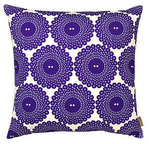 Button Print Cushion - bedroom