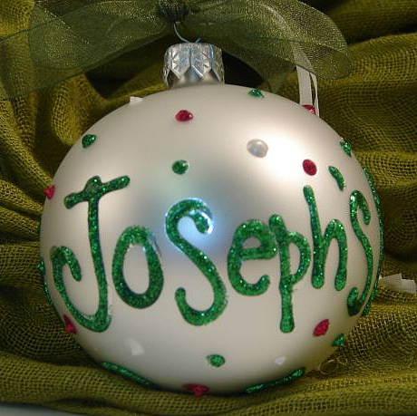 personalised hand painted christmas bauble by the letteroom ...