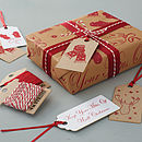 'Keep Your Mitts Off' Gift Wrap Set
