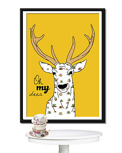 'Oh My Deer' Lots Of Designs Poster Or Canvas