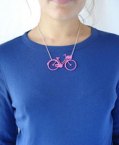 Women's Bicycle Necklace - gifts for teenage girls