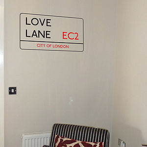 Personalised London Street Sign Wall Sticker