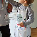 Personalised Beach Days Oilcloth Apron