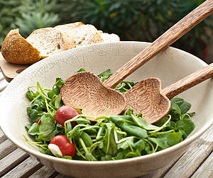 Coconut Wood Salad Servers - kitchen
