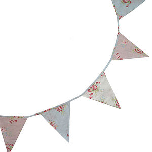 Faded Rose Floral Bunting - decorative accessories