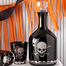 Skull & Crossbones Glass Decanter & Tumblers