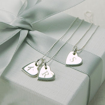 Personalised Initial Heart Token Necklace