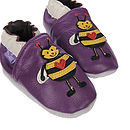 'Bertie Bumble Bee' Soft Leather Baby Shoes