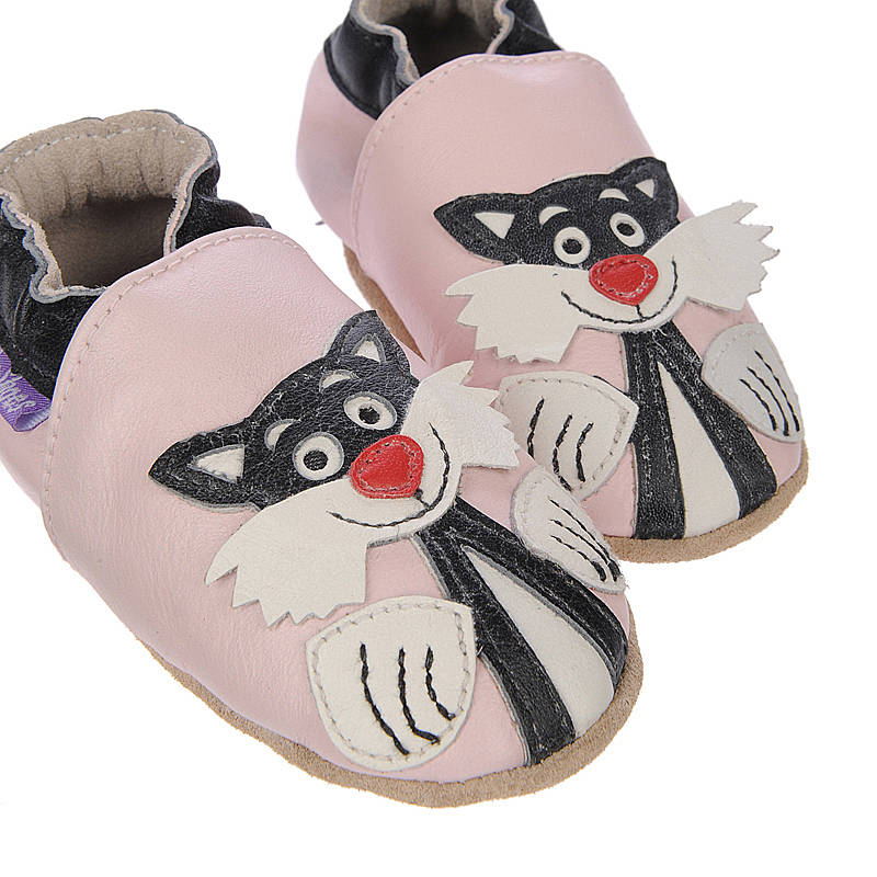 'Puss Cat' Soft Leather Baby Shoes