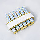 Packaged Blue Gingham Magnetic Note Holders