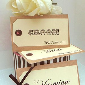 Personalised Luggage Tag - table decorations
