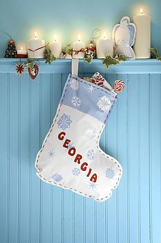 Personalised Christmas Stocking & Angel Kit