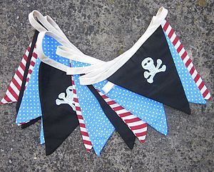 Pirate Party Bunting - children's room accessories
