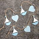 Sailboat And Heart Garland