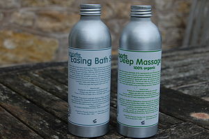 Sporty Pair: Organic Massage Oil And Bath Salts - massage & aromatherapy