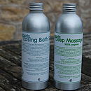 Sporty Pair: Organic Massage Oil And Bath Salts