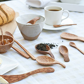 Coco Wood Serving Cutlery Set