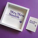 'Mr & Mrs' Personalised Print And Card