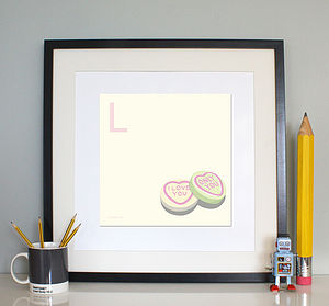 'L Is For Love' Print - posters & prints