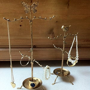 Extendable Golden Jewellery Stand - jewellery storage