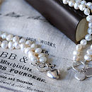 Freshwater Pearl Necklace With Silver Heart