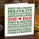Personalised Christmas Couples Card