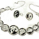 Silver Bottle Top Necklace