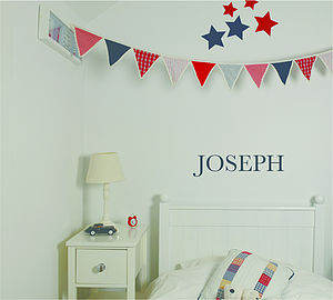 Personalised Letter Wall Sticker