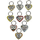 Personalised Heart Shaped Key Ring