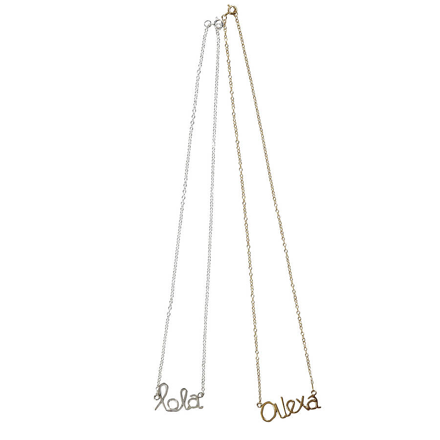 Personalised Name Necklace By Marie Walshe Jewellery