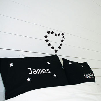 Personalised Set Of Star Pillow Cases