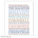 Personalised 'Family Story' Poster Print: warms