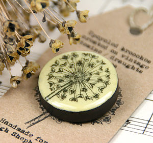 Allium Vintage Draughts Domino Brooch - pins & brooches