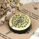 Allium Vintage Draughts Domino Brooch
