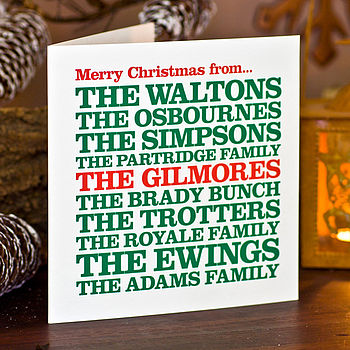 Personalised 'From The Family' Christmas Card