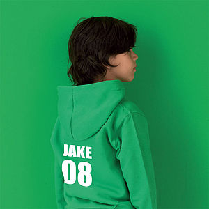 Personalised Name And Number Hoodie - for under 5's