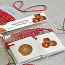 'Mixed Nuts' Eight Christmas Gift Tags