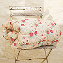 Vintage Floral Eiderdown Quilt