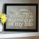 'Sunshine of my Life' Papercut