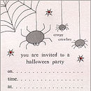 Spider Invitations