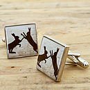 Boxing Hares Cufflinks