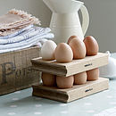 Wooden Egg Rack Solid Oak