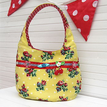 One Off Up-Cycled Yellow Vintage Handbag