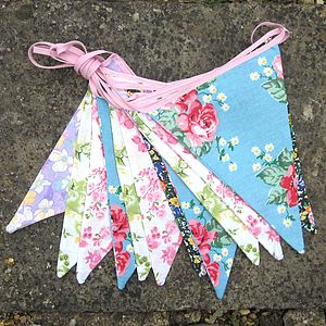 Country Floral Bunting - decorative accessories