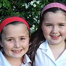 Reversible School Headbands - Red