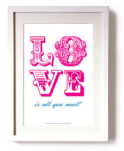 'Love Is All' Print - posters & prints