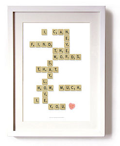 'I Can Never Find The Words' Print - gifts for couples