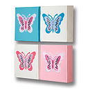 Set Of Four Butterfly Canvases