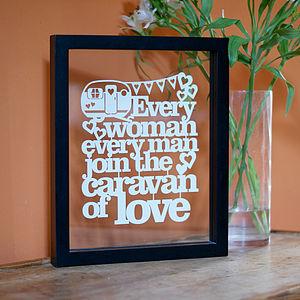 'Caravan of Love' Papercut