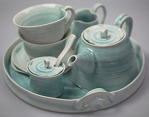 Hand Thrown Porcelain Tea Cup Set - kitchen linen